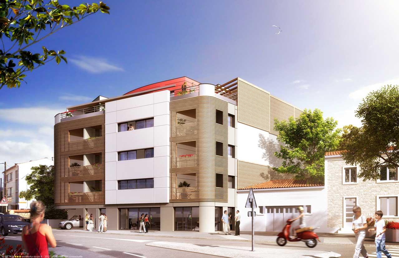 R sidence insulae denfert rochereau appartement neuf la for Appartement design la rochelle